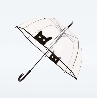 Parapluie Cloche transparent avec Chat