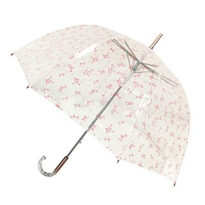 Parapluie Cloche transparent aux constellations roses de Smati
