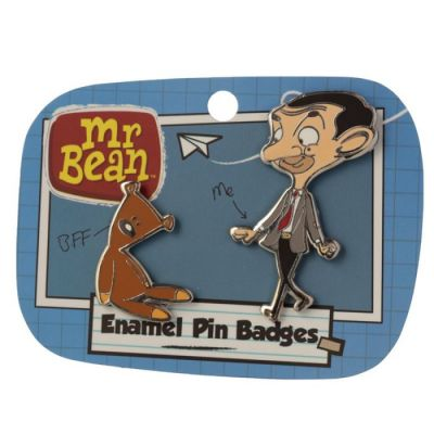 Pin's Mr Bean et son ourson Teddy de Puckator sous licence officielle