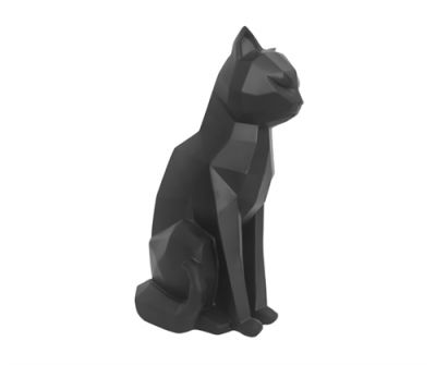 Statue Origami Chat noir assis de Present Time