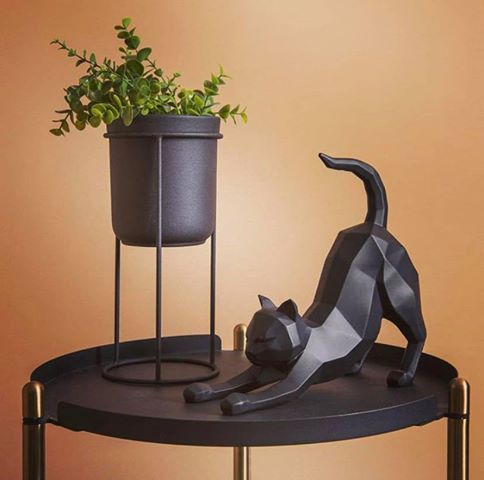 Statue Origami Chat noir
