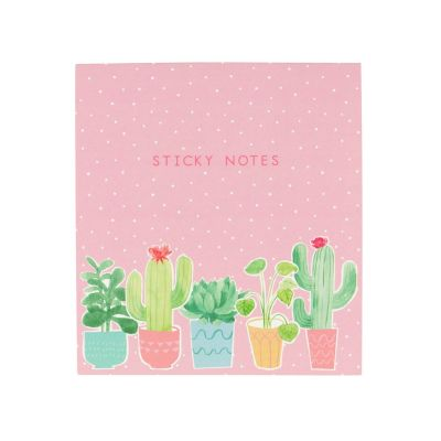 Ensemble de notes autocollantes cactus