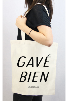 Tote bag GAVE BIEN beige par Tote The Bag