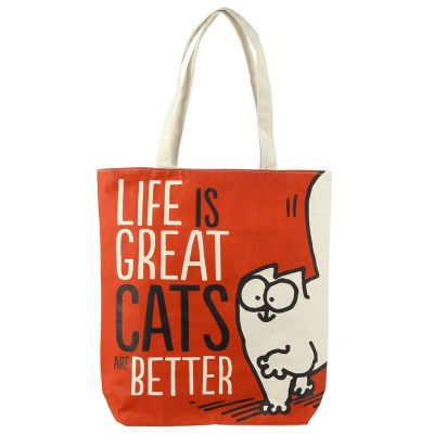 Tote bag Simon's Cat Rouge